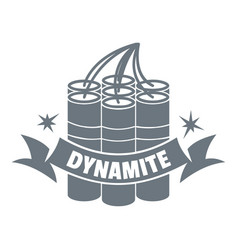 dynamite logo vintage style vector image