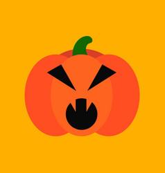 flat icon stylish background halloween pumpkin vector image