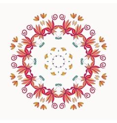 Floral roun ornament vector