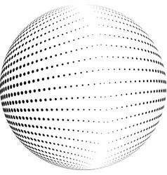 Halftone globe desing vector
