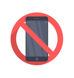 Icon prohibiting the use of a mobile phone vector