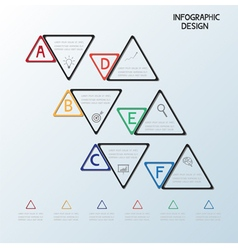 Infographic triangle template vector image