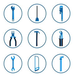 Instruments icons set 1 vector image vector image
