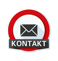 mail contact button non-english text - contact vector image