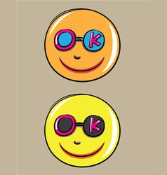 OK Smile vector image vector image