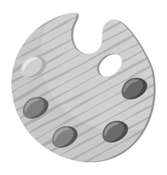 Palette for drawing icon gray monochrome style vector image