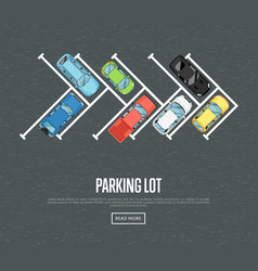 parking lot poster in flat style vector image vector image