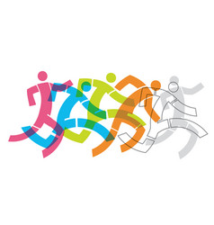 runner fitness people concept vector image vector image