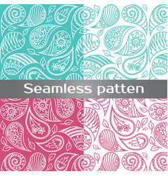 seamless colorful pattern with spring flowers vector image vector image