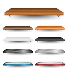 Shelves set vector image