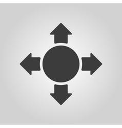 The arrow icon Search symbol Flat vector image vector image
