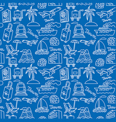 travel and resort seamless pattern vector image vector image