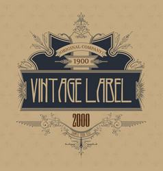vintage typographic label premium vector image vector image