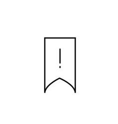 warning bookmark icon vector image vector image