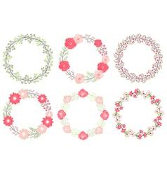 Wedding Wreath Set vector image vector image