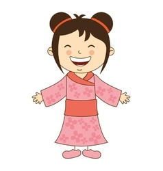 japanese girl character icon vector image