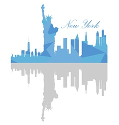 Isolated New York Skyline vector image