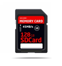 Memory sd card for various devices vector