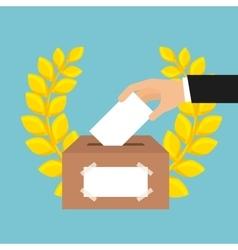 Election vote design vector