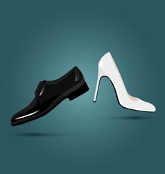 Male female classic shoes luxury wear vector