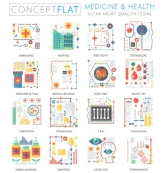 Infographics mini concept medicine and health vector