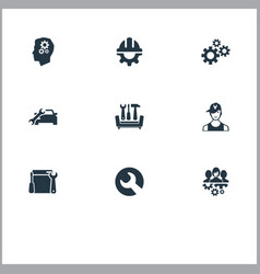 Set of simple help icons elements automobile salon vector