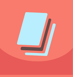 Flat style blank realistic notepad notebook vector
