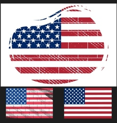 Shabby flag of USA vector image