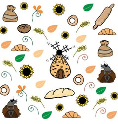 Bread pattern vector