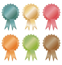 rosette decorations vector image