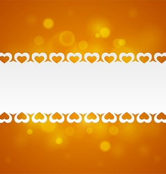 Ribbon with hearts vector