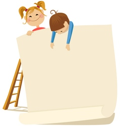 Children and poster vector
