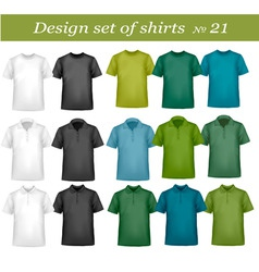 big design set shirts 21 vector image
