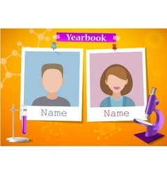 School album yearbook and science vector