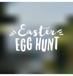 Easter sign - easter egg hunt easter wish overlay vector