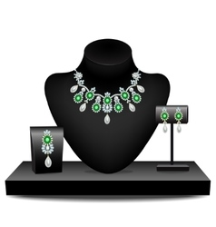 Jewelery on dummies vector