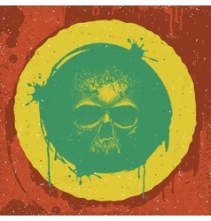 Skull reggae graphic design vector