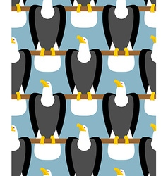 Bald eagle seamless pattern eagle with white head vector