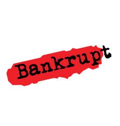 Bankrupt sticker stamp vector