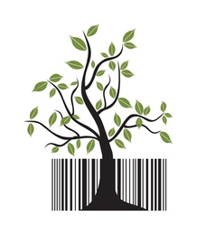 barcode tree vector image vector image