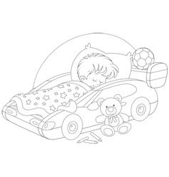 Boy sleeping vector