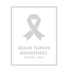 brain tumour awareness vector image vector image