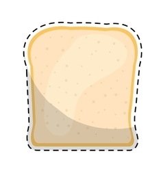 Bread slice icon image vector