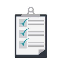 checklist on clipboard icon image vector image