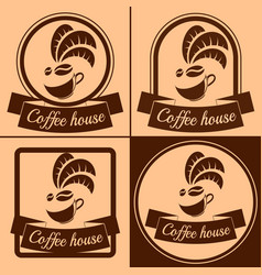 coffee house logo vector image