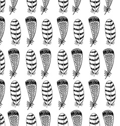 Doodle Hand drawn Seamless Pattern vector image vector image