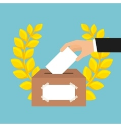 Election vote design vector
