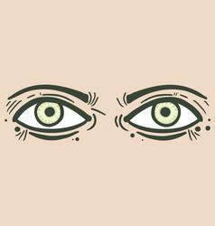 eyes sticker vector image