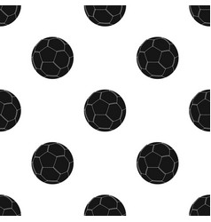 Green soccer ball icon in black style isolated on vector
