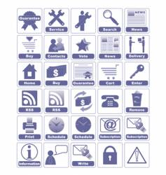 icons for internet and website vector image